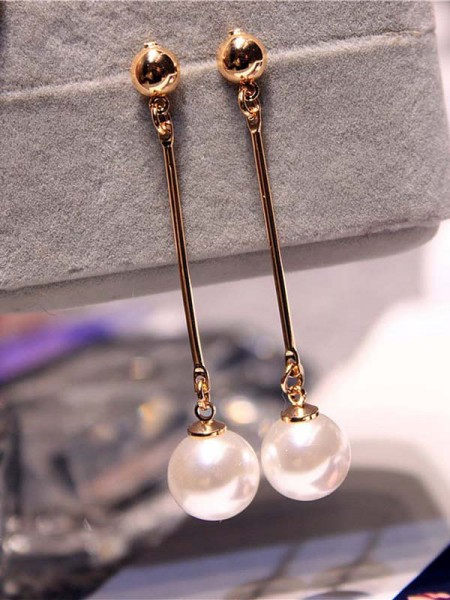 Koreanische attraktive Imitation Pearl Damen Ohrringe