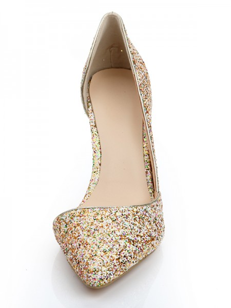 Patent Leather With Sequin High Heels s2lsdn1141lf
